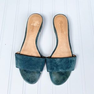 Madewell low profile slip-on suede sandals